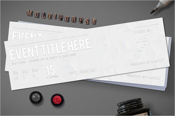Event Ticket Sample Template