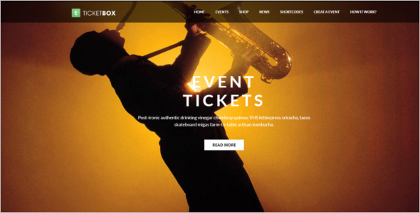 Event Tickets WordPress Theme
