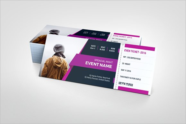 Event Vector Ticket Template