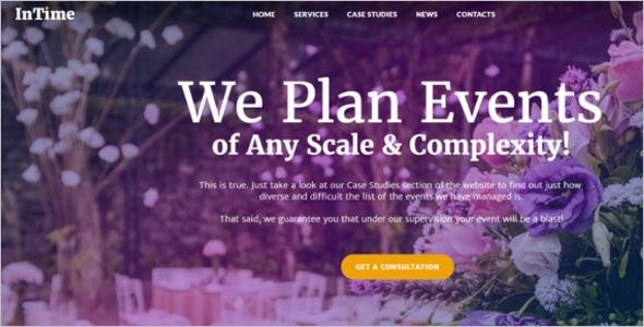 Events Management Company WordPress Theme