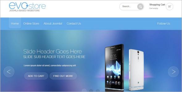 Evo Mobile Store Virtuemart Template