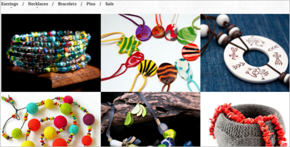 Exquisite Handmade Jewelry VirtueMart Theme