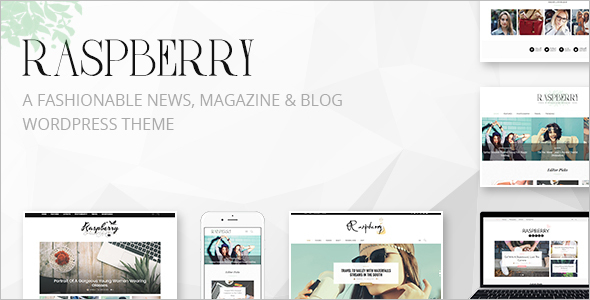 Fashion Entertainment WordPress Template