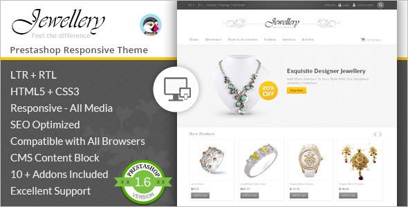 Fashion Jewellery Prestashop Template