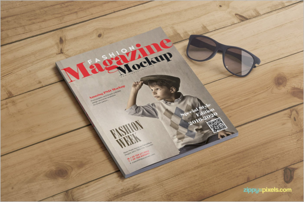 Fashion Magazine Mockup Design