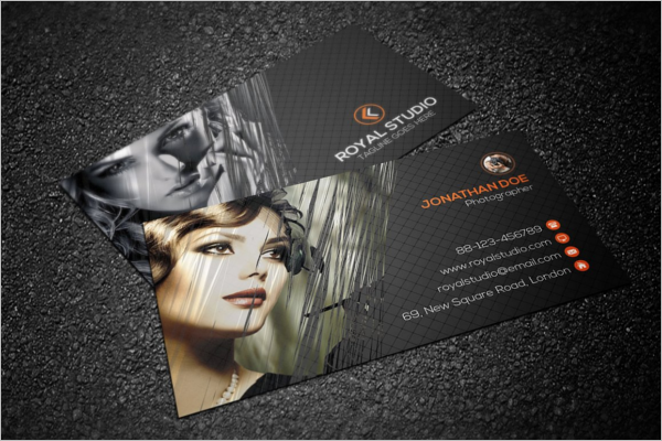 Fashion Photographer Business Card
