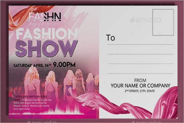 Fashion Show Postcard Design