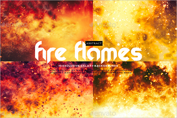Fire Flames Background Design