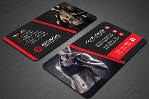 Gym Business Card Templates Free Premium Creative Template - Fitness business card template