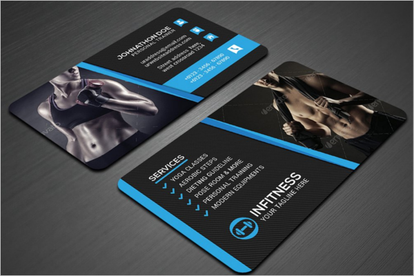 Fitness Center Business Card Template