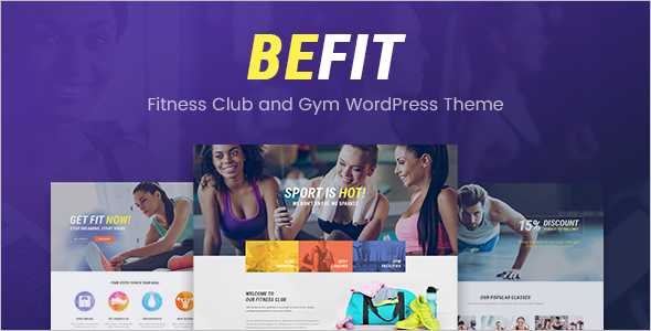Fitness Club WordPress Theme