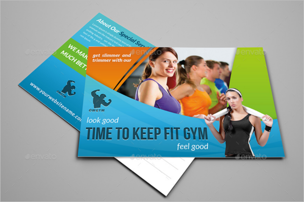 Fitness Healthcare Postcard Template