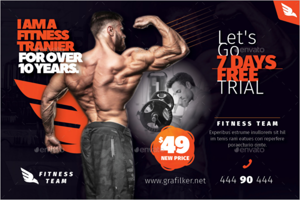 Fitness Phoroshop Postcard Templates