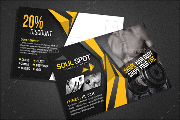Fitness Postcard Template Model