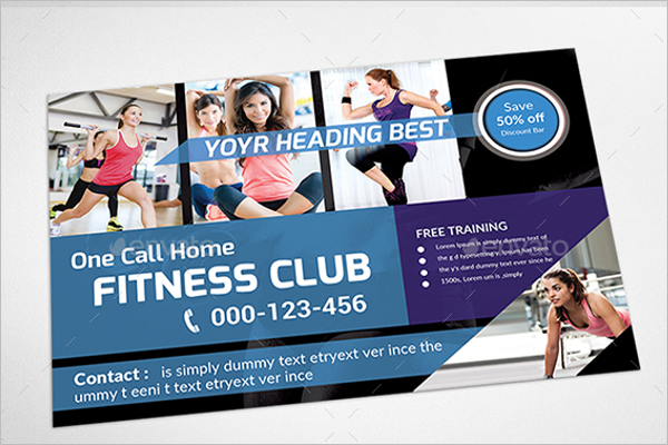 Fitness Postcards Bundle Template