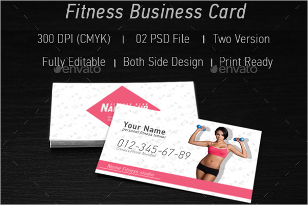 Fitness Standard Business Card Template