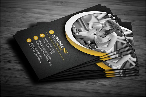 Fitness Business Card Templates Ideas