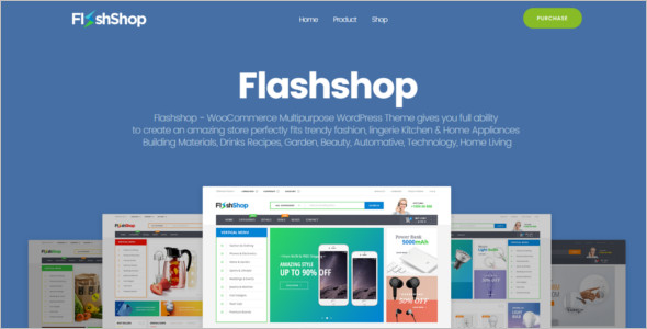 Flashshop landing Page WordPress Template