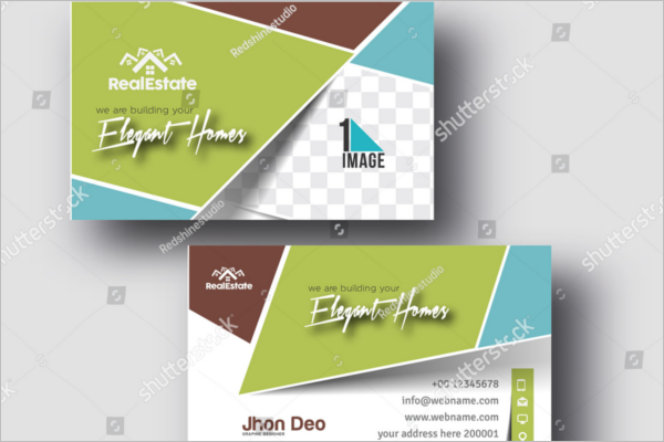 Flat design Real Estate Business Card Template