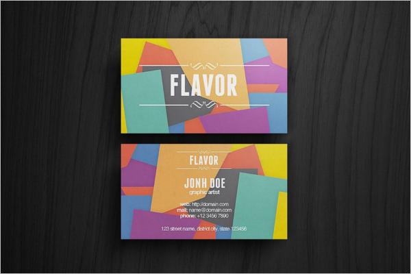 Flavor Artist Business Card