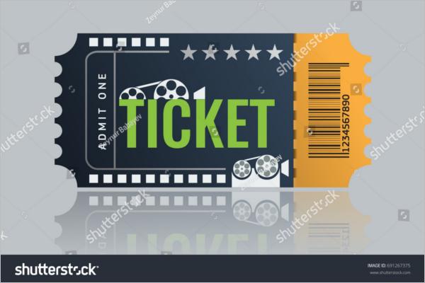 Flim Ticket Mockup Design