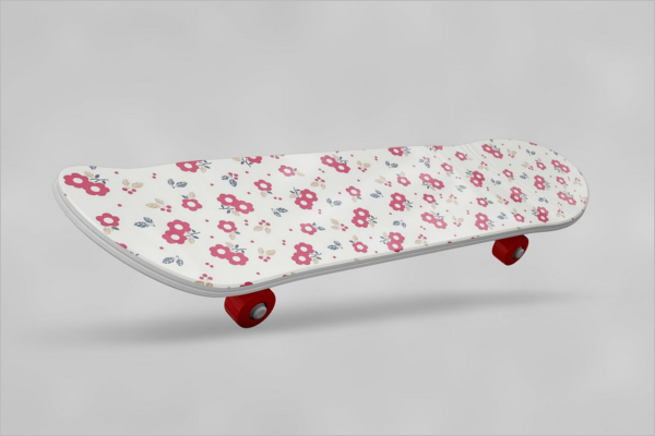 Floral DecorativeSkateboard Design