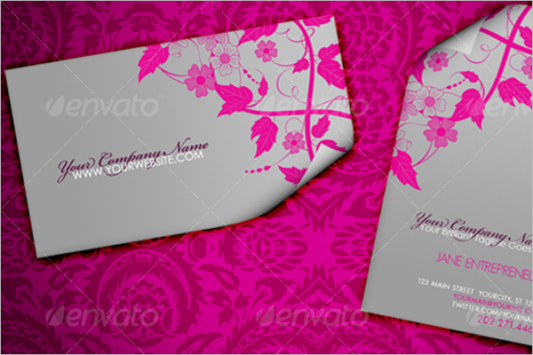 Floral Fashion Business Card