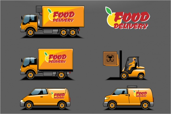 Food Delivery Vector Template