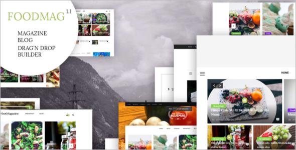 Food Magazine PHP Theme