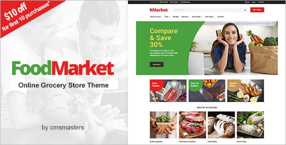 Food MarketWordPress Theme