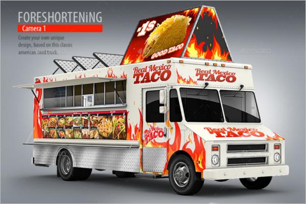 Food Truck Mockup Template