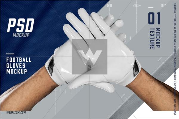 Football Gloves Mockup Template