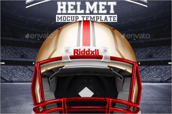 Football Helmet Mockup Model