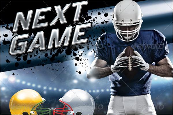 Football Helmet Poster Mockup