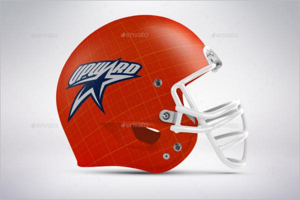 Football Helmet Product Mockup