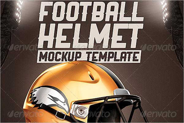 Football Sport Helmet Mockup