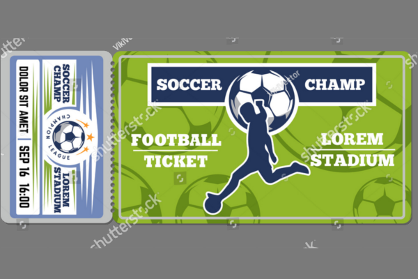 Football Ticket Mockup Design