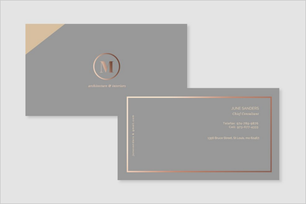 Formal Interior Business Card