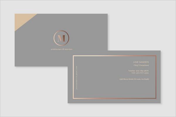 Formal Interior Business Card