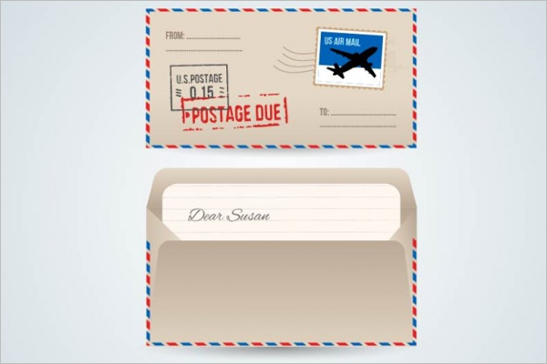 Free Airmail Envelope Vector