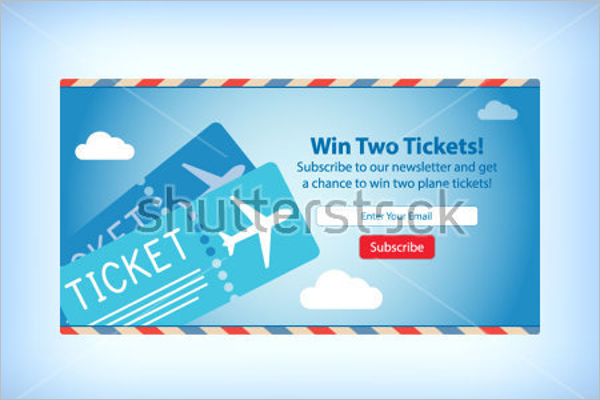 Free Airplane Tickets Mockup