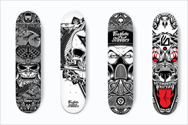 Free ArtisticSkateboard Design