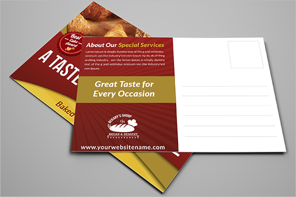 Free Bakery Postcard Template
