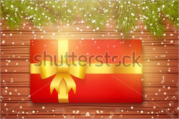 Free Christmas Gift Box Mockup Design