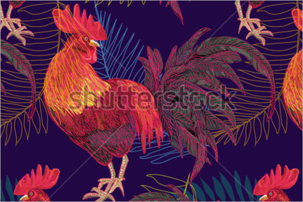 Free Christmas Rooster Template