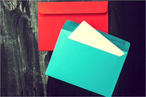 Free Colourful Vintage Envelope Design