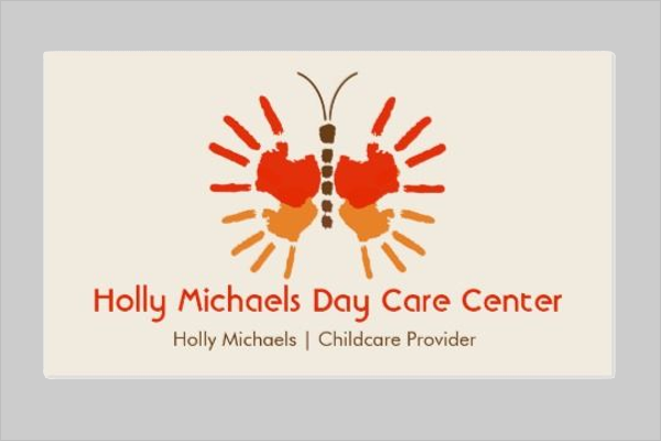 Free Day Care Business Card Design