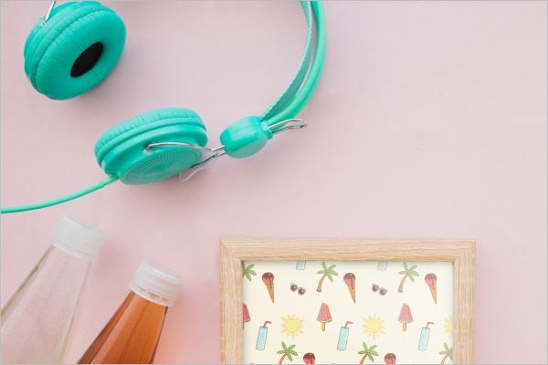 Free DecorativeHeadphones Mockup