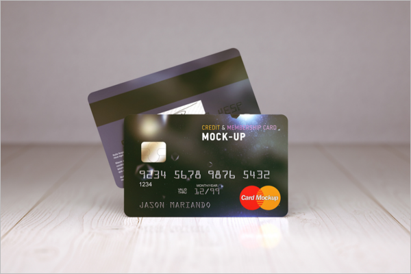 Free Membership Card Mockup Design