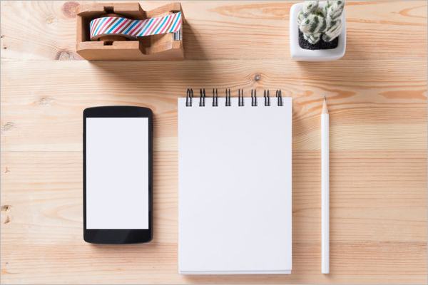 Free Notepad Mockup Design